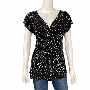 Perseption Black & White Blouse Size 2x